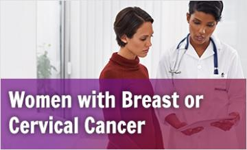 Women with Breast or Cervical Cancer